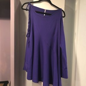 Clear Skies Cold Shoulder Tunic Dress